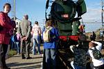 Historický parní vlak projel i Hranicemi.