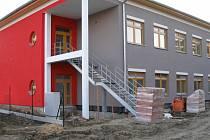 Rozestavěný Domov pro seniory v Přerově.