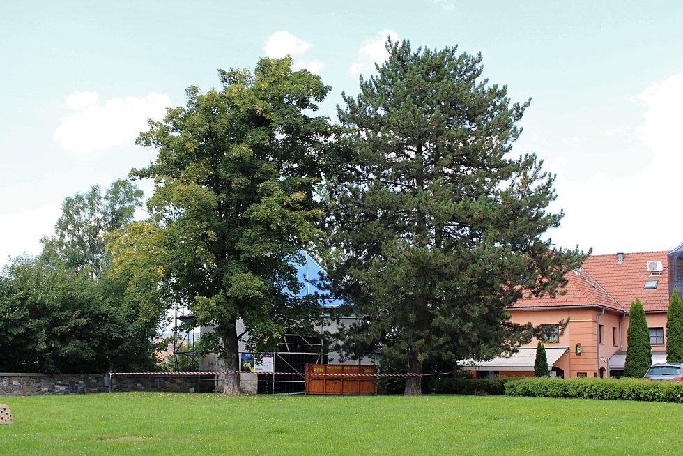 Bašta u Zámeckého hotelu v Hranicích.