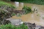 Potok Luha v Polomi, den po silné bouřce