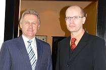 Bohuslav Sobotka s přerovským primátorem Jiřím Lajtochem.