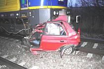 Srážka nákladního vlaku a osobáku u Polomi