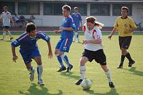 1. FC Přerov (v modrém) vs. Ústí 1:2.