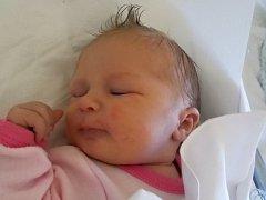 Tereza Jemelková, Lověšice, narozena dne 27. června 2016, míra: 49 cm, váha: 3528 g