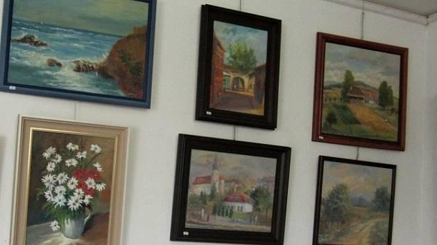 Salon výtvarníků v Hranicích. Ilustrační foto