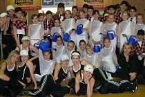 Dívky z oddílu Dynamic fit TJ ASPV Sigma Hranice.