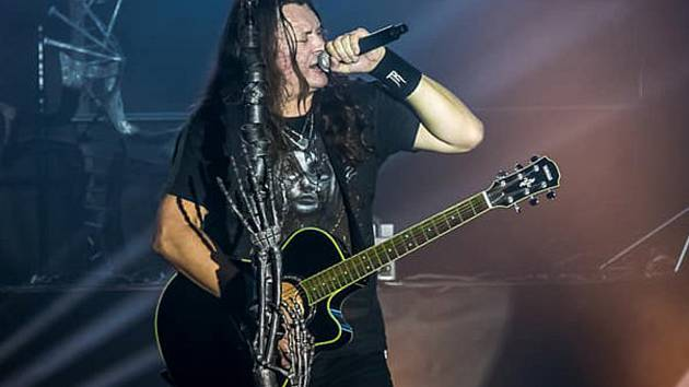 Hudebník zpěvák hranické rockové kapely Traktor Martin Kapek.