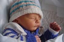 Dominik Stárek, Přerov, narozen 13. listopadu v Přerově, míra 45 cm, váha 2530 g