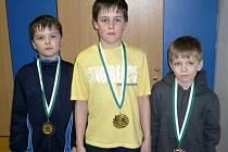 Medailisté Ondra Vašina, Patrik Vašina a Roman Čech