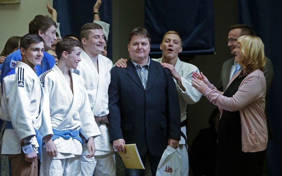 Kategorie trenéři, senioři a činovníci - Marek Nádvorník, trenér Judo club Železo Hranice. Vyhlášení nejúspěšnějších sportovců Hranic za rok 2014