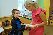 Vysvědčení u prvňáčků na MŠ a ZŠ Šromotovo v Hranicích