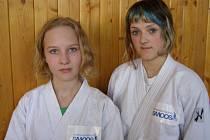 Petra Janáčková (vlevo) a Marie Holčáková na turnaji v Budapešti.