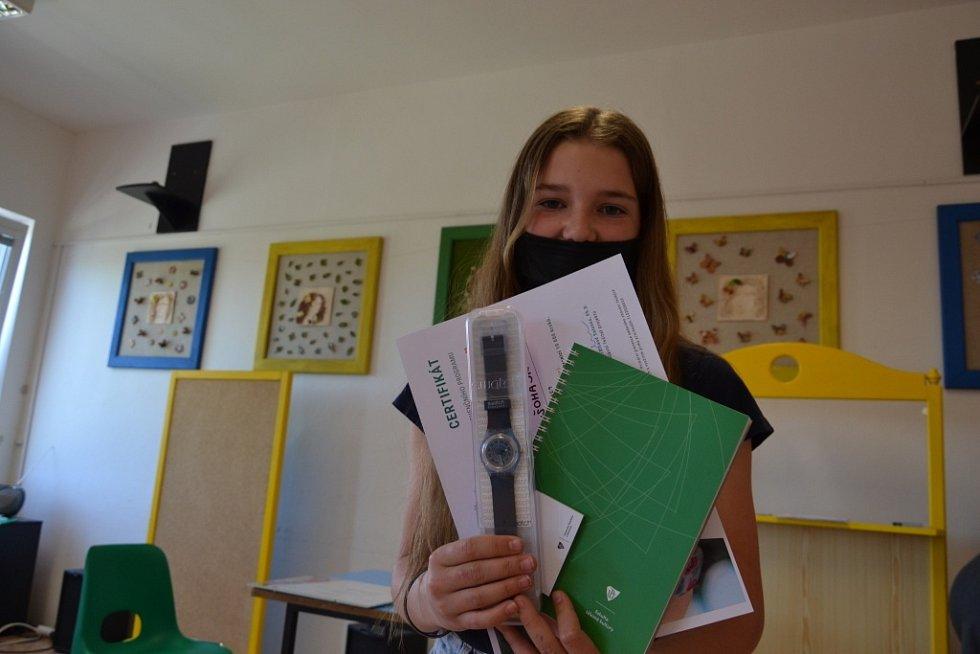 Projekt s krokoměry Garmin na škole ZŠ 1. máje Hranice.