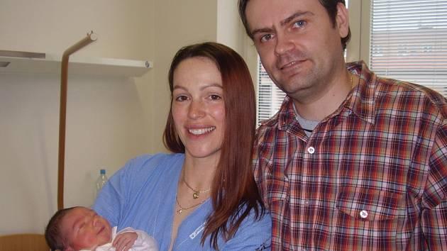 Hana Pospíšilová, Troubky, dcera Lucie Pospíšilová, narozena 17. 2. 2008 v Přerově, váha 3,72 kg