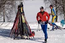 Ivo Vrba na zimním triatlonu.