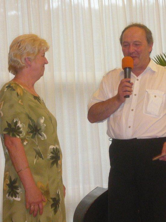 Jedním z úkolů byl i tradiční rozhovor s moderátorem.