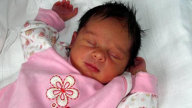 Tereza Jemelková, Přerov, narozena 20. prosince v Přerově, váha 3 010 gramů, míra 50 centimetrů