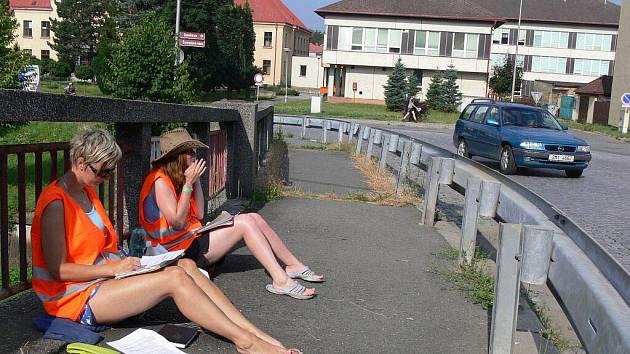 Sčítání aut v Hranicích