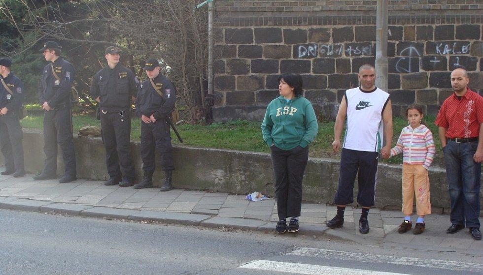 Policie i Romové v Přerově jsou v pohotovosti, v sobotu 4. dubna celé dopoledne očekávali příjezd radikálů.