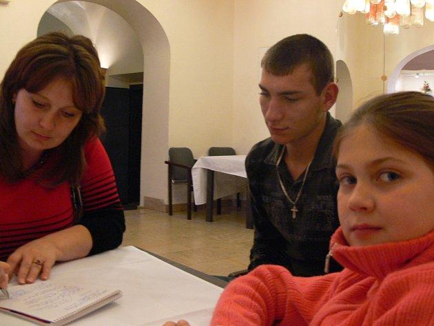 Rodina Rakhimových z Kazachstánu.