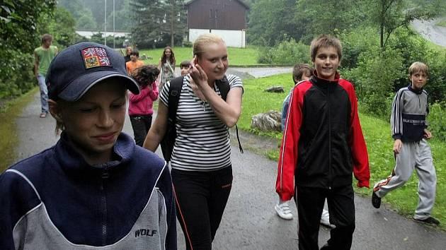 Děti ze záplavami postiženého Hranicka v ozdravovně ve Vojtěchově