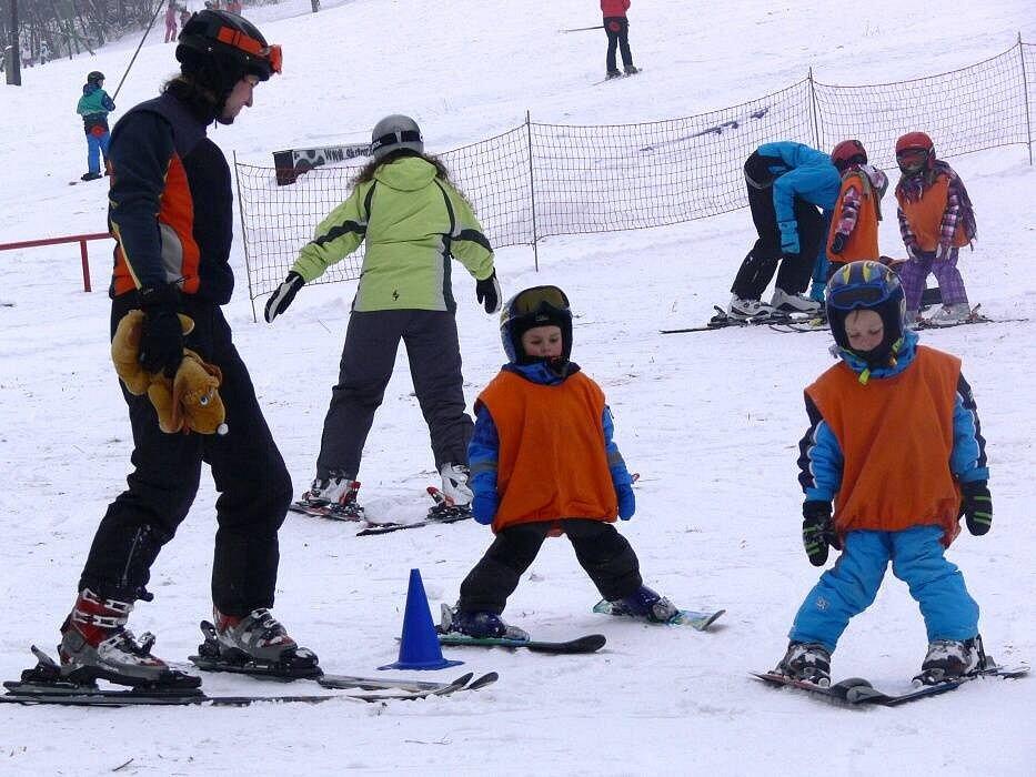 Lyžování ve Ski areálu Potštát. Ilustrační foto