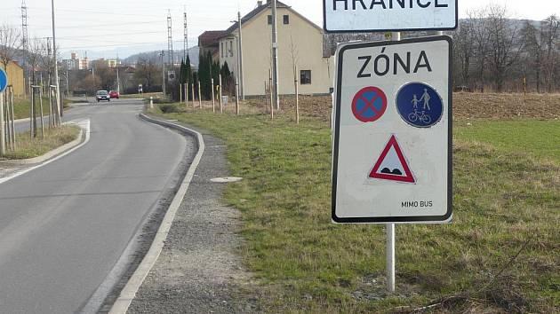 Fotomontáž. Zóna se nachází na území Hranic od 1. dubna