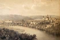 Hranický most na archivní fotografii