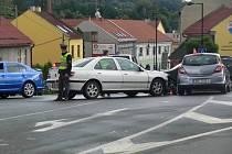 Nehoda v centru Hranic, 17.7.2012