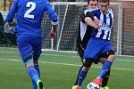 Fotbalisté SK Hranice (v pruhovaném). Ilustrační foto