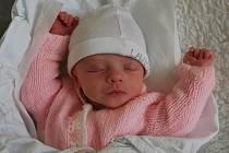 Emma Žaludová, Přerov, narozena 30. září v Přerově, míra 44 cm, váha 2 100 g