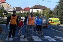 Podzimní jízdu na kolečkových bruslích si v sobotu odpoledne vychutnali in-linisté po silnicích města Hranic.