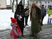 Foto: Vladislav Barot. Masopustní veselí si v sobotu užili také v Černotíně na Hranicku.