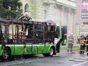 V neděli 10. června kolem 19.15 hodin hořel na třídě 1. máje  v Hranicích elektrobus městské hromadné dopravy