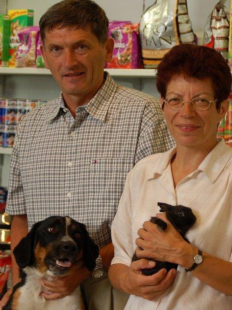 Manželé Jirků milují zvířata. Kromě rybiček vlastní ještě psa, dvě kočky a koníka.