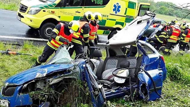 Nehoda u Černotína na Hranicku - 26. 5. 2020