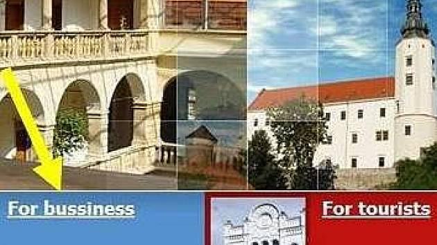 Web hranické radnice v angličtině