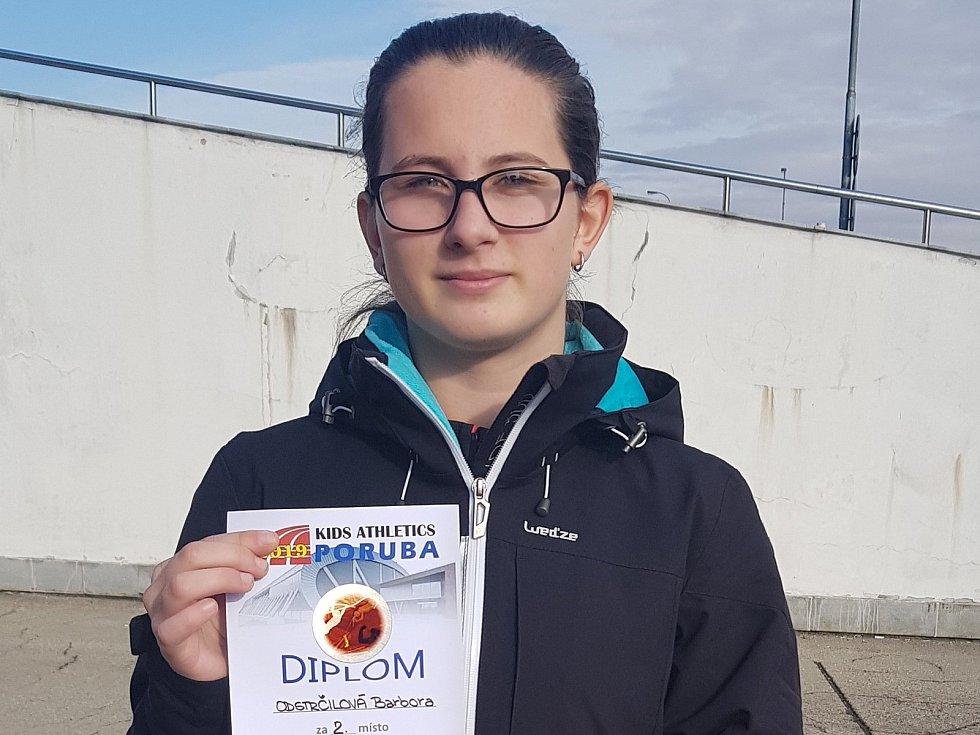Barbora Odstrčilová skončila druhá na mítinku Kids Athletics Poruba.