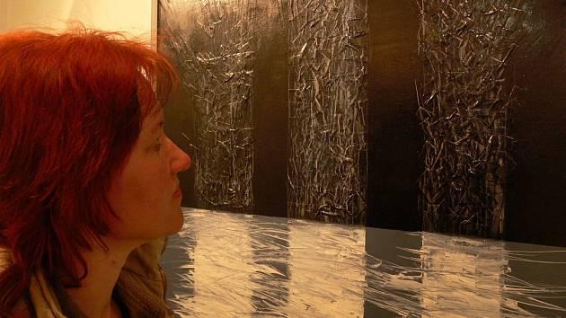 Výtvarník Radovan Langer představil svou tvorbu v Hranicích v roce 2007.