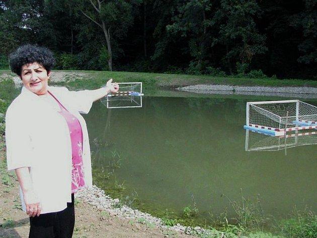 Zrekonstruovaný rybník vDobročicích