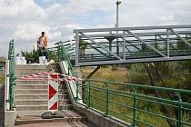 Oprava lávky z Hromůvky do Kauflandu
