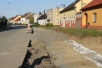 Rekonstrukce Drahotuš - druhá půlka října 2015