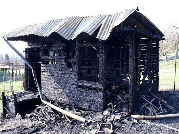 Po požáru chatky v Lipníku nad Bečvou