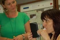Zájemci si mohli nechat změřit také obsah CO v plicích.