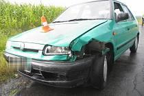 Vážná dopravní nehoda zablokovala v pondělí 17. srpna odpoledne silnici mezi Lazníky a Tršicemi.