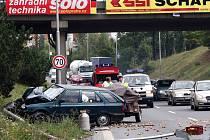 Dopravní nehoda v Hranicích.