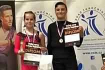Tanečníci A-klubu Hranice Dan Witosz a Aneta Janoušková.