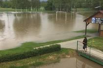 Zatopené hřiště v Ústí, 23.5.2019