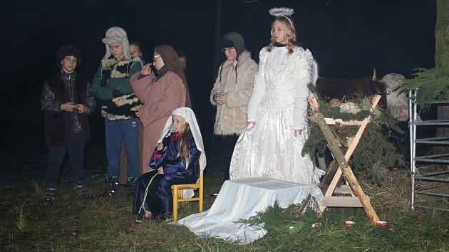 Ve Vysoké na Hranicku se uskutečnil druhý ročník předvánoční akce, nechybět ani betlém s živými zvířaty. Lidé si společně také zazpívali koledy.