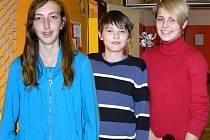 Zleva: Kristýna Kaňovská, Jakub Vašíček a Simona Hrbáčková